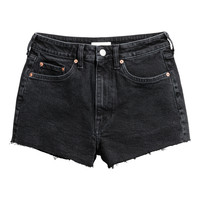 High Waist Denim Shorts - from H&M