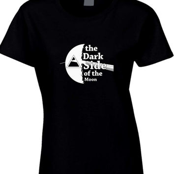 Pink Floyd The Dark Side Of The Moon Black And White Womens T Shirt