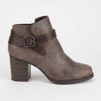 SODA Strappy Heeled Womens Booties   Boots & Booties