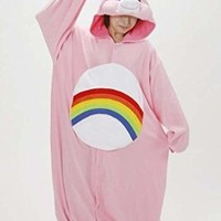 Rainbow Bear Adult Unisex Animal Kigurumi Cosplay Costume Pajamas Onesuits