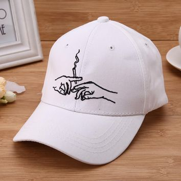 2017 Unisex Hands Smoke Embroidery Baseball Cap New Design Adjustable Hiphop Hats Snapback Cap Trucker Cap Cool Gorras