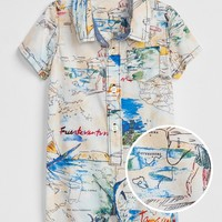 babyGap Map Print Shorty One-Piece | Gap