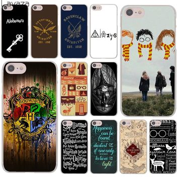 Lavaza always Harry Potter Deathly Hallows Hard Cover Case for Apple iPhone 8 7 6 6S Plus 5 5S SE 5C 4 4S X 10 Coque Shell