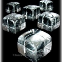 Hand-Blown Glass Ice Cubes