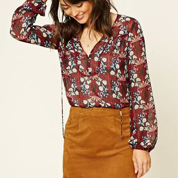 Contemporary Floral Print Top