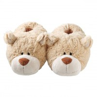 NICI Snuggle Up Slippers - Caramel Bear - Slippers | Zhu Zhu