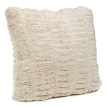 Ivory Mink Faux Fur Pillows by Fabulous Furs