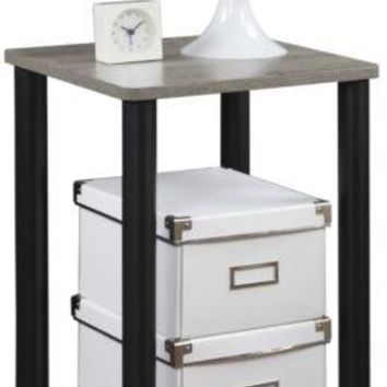 End Tables Gray Square Wood Side Living Wooden Nightstand Modern Living