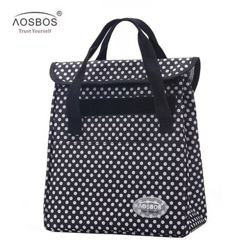 Aosbos Portable Thermal Lunch Bags Women Men Multifunction Large Capacity Storage Tote Bags Food Picnic insulation Cooler Bag