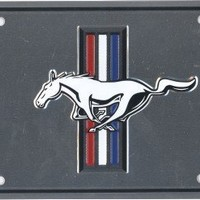 Ford Mustang Metal License Plate 6 x 12