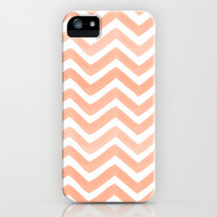 PEACHY: PAINTED CHEVRON iPhone & iPod Case by Rebecca Allen