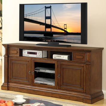 Arlington 74 Inch TV Stand Distressed Tobacco