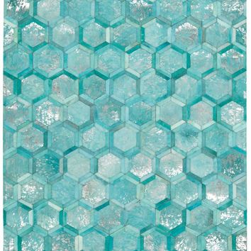 Michael Amini City Chic Turquoise Area Rug by Nourison