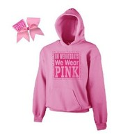 On Wednesdays We Wear Pink Cheer ComBow (Adult Medium)