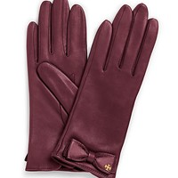 Tory Burch Leather Bow Glove