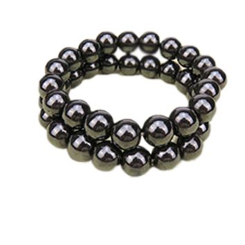 Fashion Jewelry Stretch Black  Magnetic Hematite Healing Bracelet
