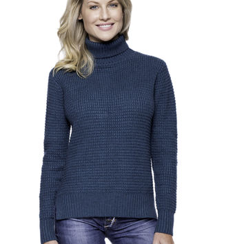 Cashmere Blend Turtle Neck Sweater - Teal