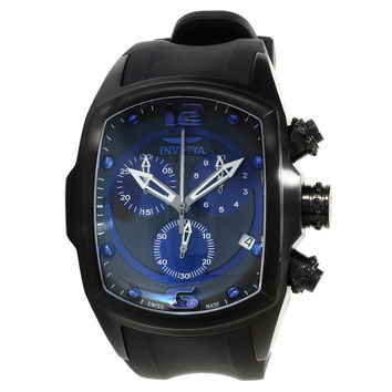 Invicta 14016 Men's Lupah Revolution Navy Blue & Black Dial Chronograph Rubber Strap Watch