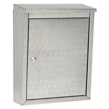 Architectural Mailboxes 2407SW Metropolis Stainless Steel with Swirl Pattern Wall Mounted Mailbox