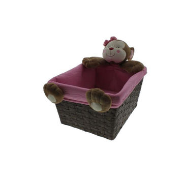 Koala Baby  Plush Baby Girl Nursery Basket