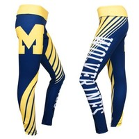 University of Michigan Wolverines Dynamic Sublimation Leggings