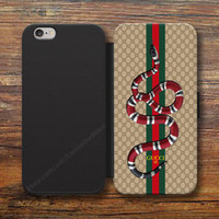 Rere! GUCCI687X SNAKEWallet iPhone 8/7/6S Plus 5S Samsung S9 S8 S7 S6 Note Cases