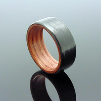 Carbon Fiber ring with Bubinga bentwood wood liner