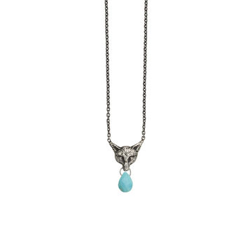 Fox Briolette with Turquoise