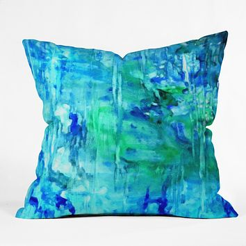 Rosie Brown Blue Grotto Throw Pillow