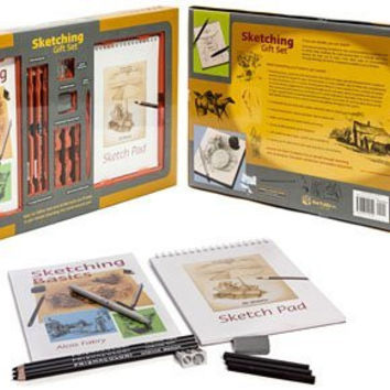 Mud Puddle Inc Sketching Gift Set with Sketchpad, Pencils, Charcoal and Accessories