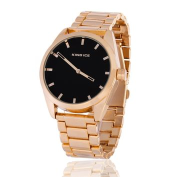 The 14K Gold Tone Watch by King Ice