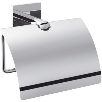 Tick Self-Adhesive Toilet Paper Holder Bath Tissue Roll Paper Dispenser With Lid