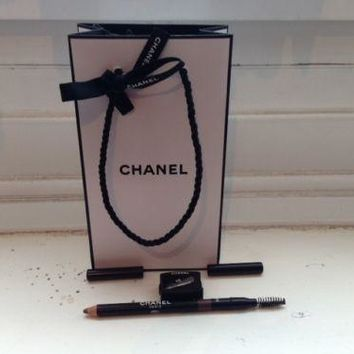 Chanel eyebrow pencil Brun Natural with brush,sharpener and gift bag FREE POST