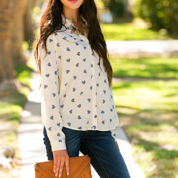 Heart to Heart Button Blouse