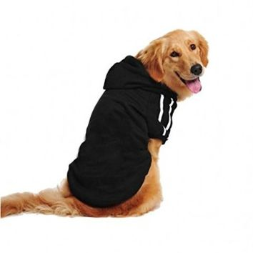 Lesypet Big Dog Sweater Dog Hoodies Sports Clothes Design for Big Dog, Labrador Retriever, Golden Retriever ,German Shepherd Dog,Boxer etc, 20lbs-80lbs