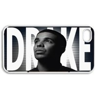 Apple iPhone 4 4G 4S Drake Yolo YMCMB DESIGN WHITE Sides Slim HARD Case Skin Cover