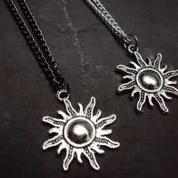 Sun Necklace ~ Long Necklace ~ Layering Necklace ~ Sun Jewelry~  Hippie Necklace ~ Bohemian Necklace ~ 90s necklace ~ 90s grunge ~ Charm