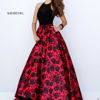 Sherri Hill Print Taffeta Dress 50245