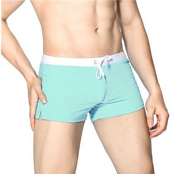 Summer Swimwear Men Swimsuit Maillot De Bain Boy Swim Suits Boxer Shorts Swim Trunks Swimming Surf Banadores