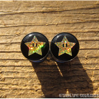 NEW! Mario Super Star Plugs (Holographic!) - 0g, 00g, 7/16, 1/2, 9/16, 5/8, 3/4, 7/8, 1 Inch
