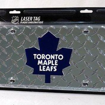 Toronto Maple Leafs NHL Laser Cut Diamond Plate License