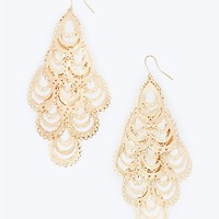 Filigree Teardrop Chandelier Earrings