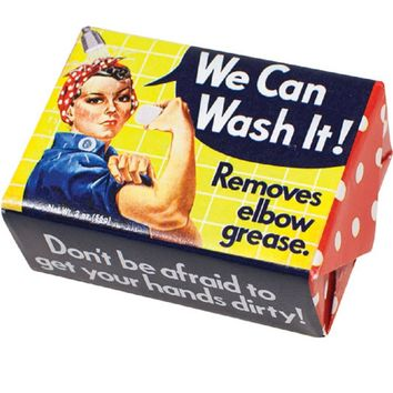 We Can Wash It! Soap - Rosie the Riveter Inspired