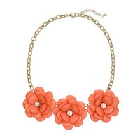 Apt. 9 ® Gold Tone Simulated Crystal Flower Bib Necklace