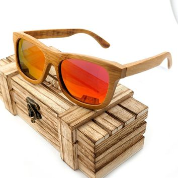 Bobobird S0192 Polarized Brwon Lenses Bamboo Wood Handmade Mens Brand Designer Sunglasses gafas de sol steampunk Cool in Box