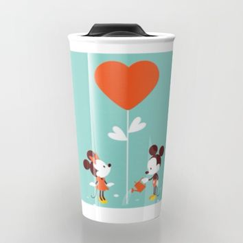 Minnie and Mickey Mouse Travel Mug by Pink Berry Patterns