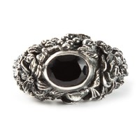 Ugo Cacciatori engraved rhinestone sovereign ring