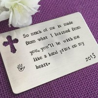 Teacher Gift Wallet Insert - Sunday School Teacher - So much of me is made from - Personalized Teacher Gift - Teacher Appreciation