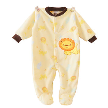 Winter Baby Clothes Fleece Boys Girls Infants Newborn Animal Baby Clothes Long Sleeve Baby Rompers Jumpsuits Footed Coverall