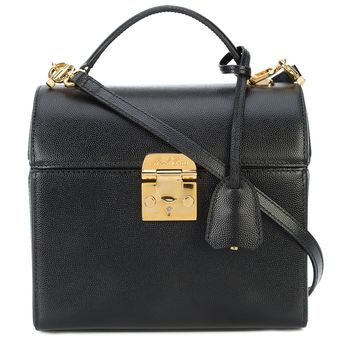 Mark Cross Sara Caviar Bag - Black Removable Strap Bag